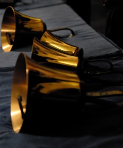 Handbells on Table