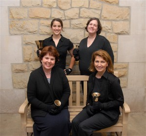 quartet on bench