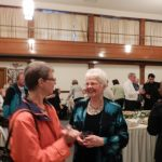 Nancy Lutz, our Artistic Director, with an audience member at Oakmont Presbyterian Church, Sunday, April 22nd, 2012