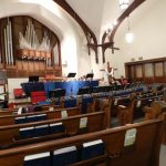 Our setup at Oakmont Presbyterian Church, Sunday, April 22nd, 2012